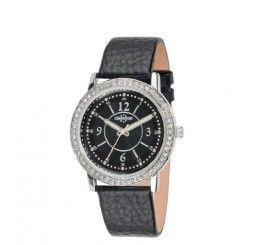 Chronostar Dames Horloge Zilver met Zwarte band bestel het nu via www.beyoubeauty.nl