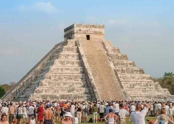 "The Kukulkan Pyramid at Chichen Itza. Chichen Itza tours from Cancun! Visit one of the most famous archaeological sites in the world! Chichen Itza Mexico is one of the ""New 7 Wonders of the World"" and visitors to Cancun and the Riviera Maya have the great opportunity to visit this marvel of history and culture!"