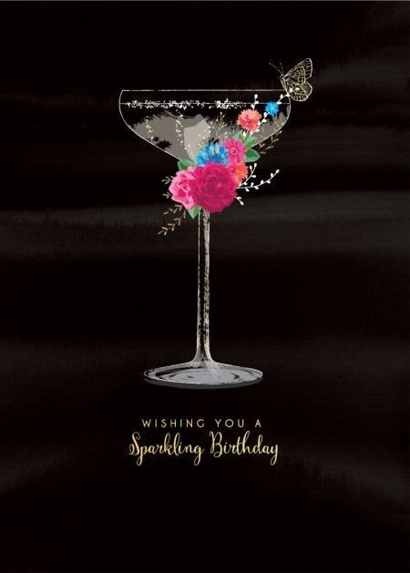 Happy Birthday cocktail champagne