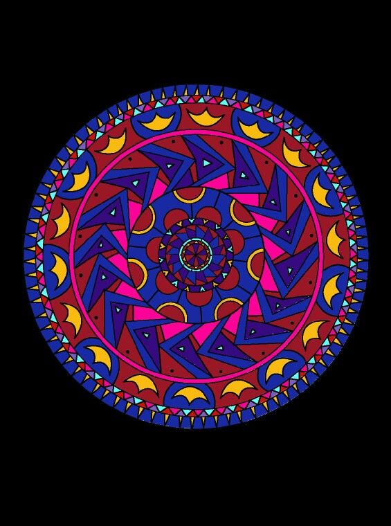 Coloring Exotic Mandala Colorfy Colorfyapp Patterns Rainbow App