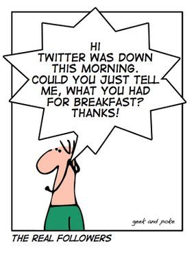 Twitter: it's more how good your workout/coffee were on my feed. xoxo