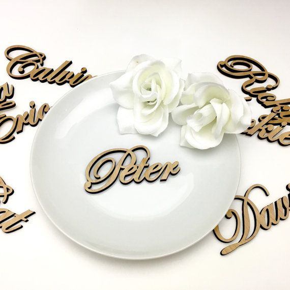 Custom Plate Names Laser Cut Wood Name Place by NgoCreations