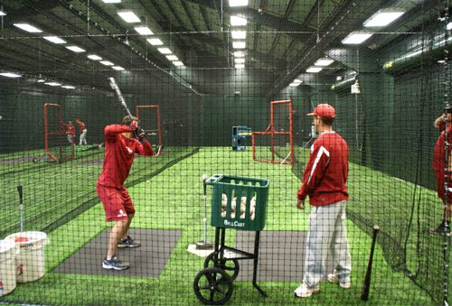 Indoor batting cage floor plans triad design group for Design indoor baseball facility