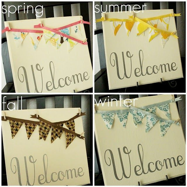Hrm. Something, but different.: Bunting Plaque, Interchangeable Bunting, Saturday Idea, Buntings, Super Saturday, Craft Ideas, Crafts