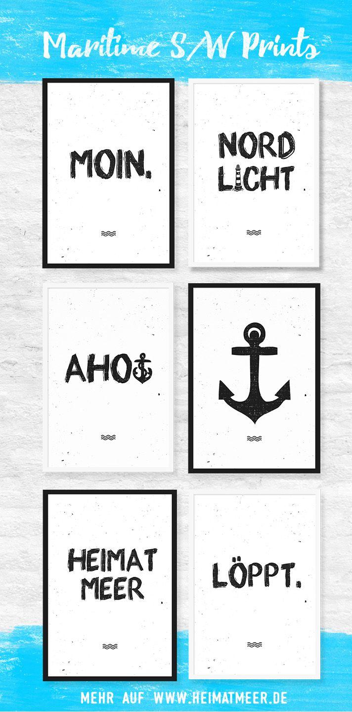 Maritime Kunstdrucke in Din A2 & Din A4 von Heimatmeer. Moin, Nordlicht, Ahoi, Anker & Mee(h)r >>