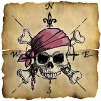Yarr, Pirate Maps ~ Google maps with a pirate theme