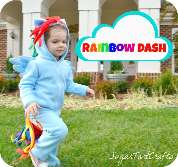 My Little Pony Rainbow Dash costume  sc 1 st  Pinterest : toddler my little pony costume  - Germanpascual.Com