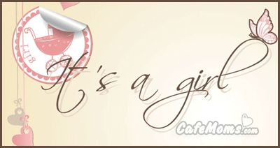 Its a Girl Butterfly Pink Graphic plus many other high quality Graphics for your Facebook profile at CafeMoms.com.
