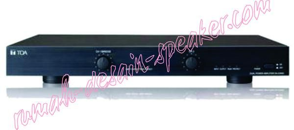 Amplifier TOA ZA-D500 , output 2 x 250 Watt Low Impedance. Untuk aplikasi bisa digunakan untuk men-drive 2 bh ZS-HS1500 series untuk sound di aula atau di lapangan upacara .....suara mantap.  Spec: Power Source 220-240V AC, 50/60Hz Power Consumption 120W (EN standard), 620W (rated 4 x 2), 400W (rated 8 x 2) Frequency Response 20-20kHz, 1dB Distortion Less than 0.3% at 1kHz, 1/3 output rated Input 2 channels, +4dBm* (1.23V, on the position of the maximum control), 10k, electronically…