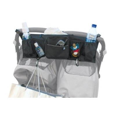 JL Childress Double Wide Bottles N Bags Stroller Organizer Black