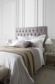 grey upholstered bed - Google Search