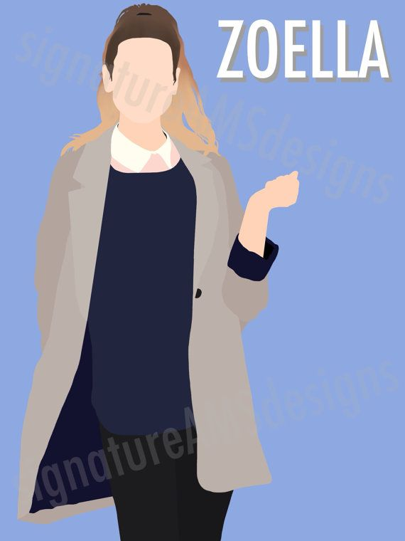 Minimalist Digital Artwork of YOUTUBER and Fashion Guru - Zoella / Zoe Sugg. ( 11.7x16.5 inches / A3 ) - troye sivan | TRXYE | tyler oakley | youtube | connor franta | Australia | singer | kian lawley | jc Caylen | Ricky Dillon | Trevor Moran | zoella | Zoe sugg | joe sugg | thatcher joe | marcus butler | jack and finn harries | Youtuber | poster | print | minimalist | art | Tanya burr | Alfie deyes | Casper lee