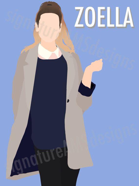 Minimalist Digital Artwork of YOUTUBER and Fashion Guru - Zoella / Zoe Sugg. ( 11.7x16.5 inches / A3 ) - troye sivan | TRXYE | tyler oakley | youtube | connor franta | Australia | singer | kian lawley | jc Caylen | Ricky Dillon | Trevor Moran | zoella | Zoe sugg | joe sugg | thatcher joe | marcus butler | jack and finn harries | Youtuber | poster | print | minimalist | art | Tanya burr |  Alfie deyes | Casper lee