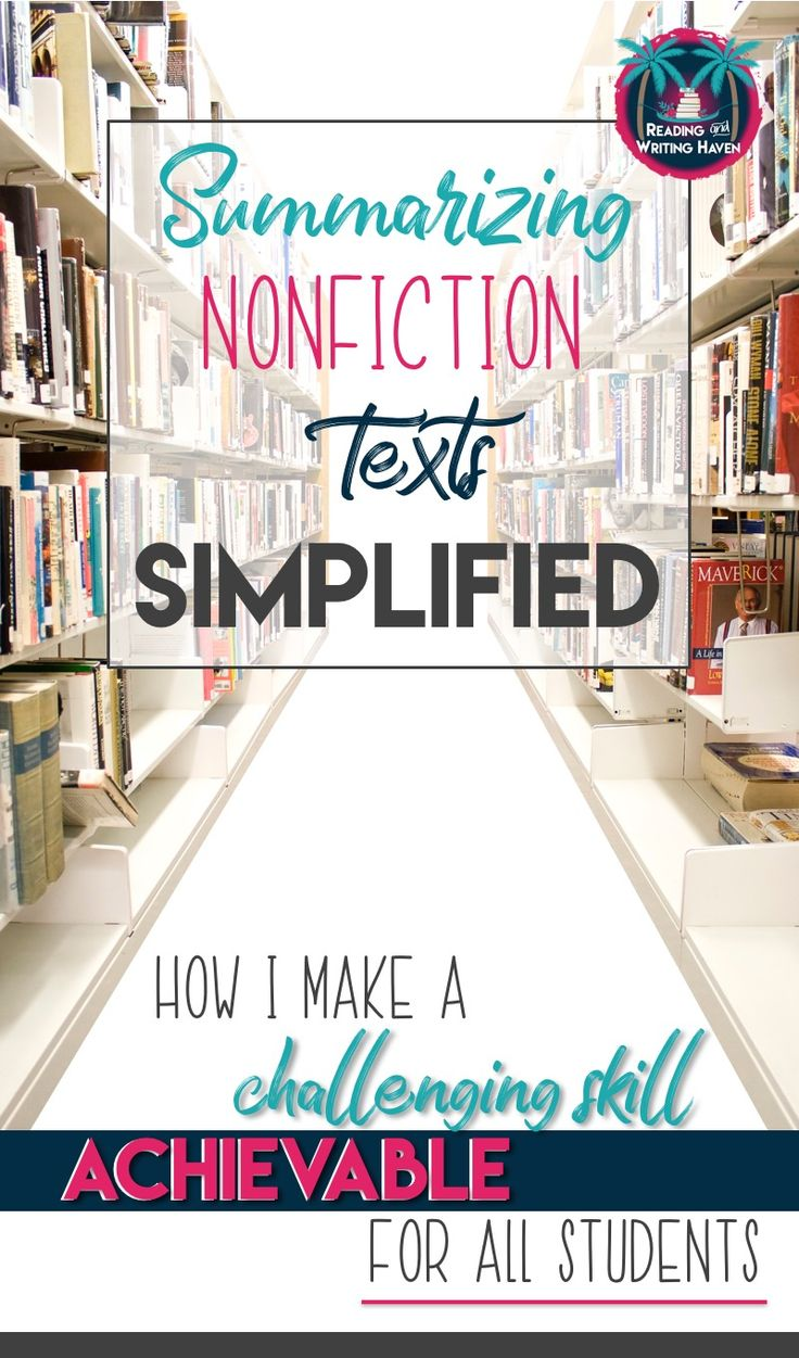 Teach students to summarize nonfiction texts using this simple metaphor. This unique teaching strategy well as scaffolding for struggling readers in middle and high school.