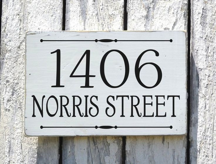 Address Plaque Custom House Numbers Sign Personalized Rustic Painted Wood Street Name Signs Outdoor Home Number Hanging Sign