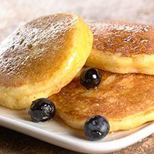 FODMAP friendly lemon pancakes.  Sub in lactose free milk or light coconut milk. Yummm