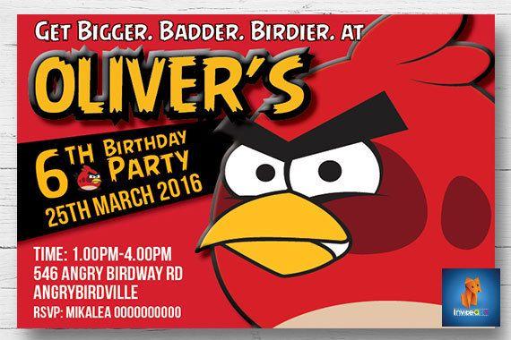 Angry Birds 2 Invitation - Angry  Invitation - Angry Birds Party Invitation  - Angry Birds Party - Angry Birds 2 Invitation - Digital File by InviteART on Etsy