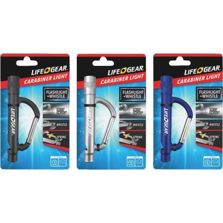 Life Gear Blue Carabiner with LED Flashlight