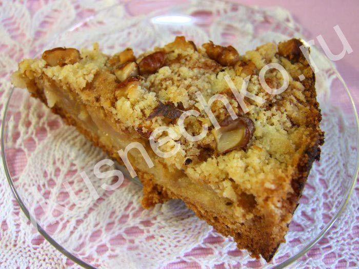 хрустящий яблочный пирог с орехами. Обсуждение на LiveInternet - Российский Сервис Онлайн-Дневников
