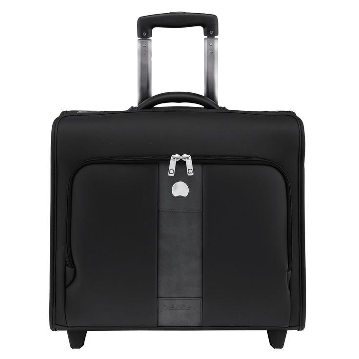 Delsey La Defence Cabin Trolley Pilot Case-PC Protection (Black)