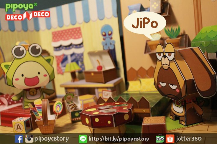 Make cute gardening for JiPo's room. Papertoy PiPoYa cute Gift and craft