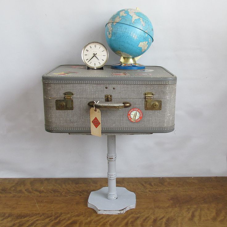 Upcycled 1950s Suitcase   Side Table   Night Stand By Leapinglemming On Etsy Part 72