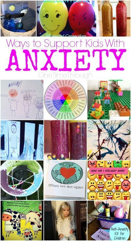 Ways to support kids with anxiety and help them identify their emotions and put them into words. - some great tips here all in one place thanks to Sue at onetimethrough.com #parenting #childhoodanxiety #emotions