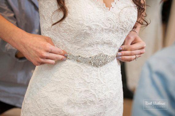 Beaded Crystal Embellishment Belt Sash Designer by Tatishotties