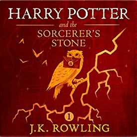 "Another must-listen from my #AudibleApp: ""Harry Potter and the Sorcerer's Stone, Book 1"" by J.K. Rowling, narrated by Jim Dale."