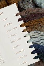 Shadecards - Virtual Yarns: Hebridean 3 ply