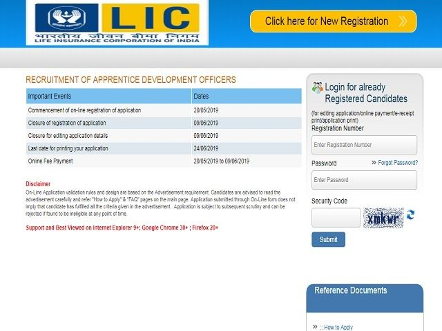 Lic Ado Recruitment 2019 Notification For All Eight Zones Have