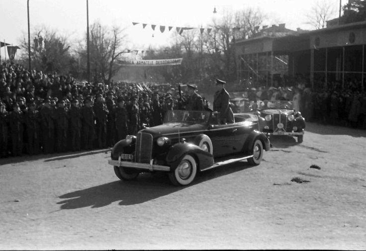 E12.Bukarest.Einzug der rumänischen Truppen von Odessa, (General) Antonescu - Generalfeldmarschall (Wilhelm) Keitel