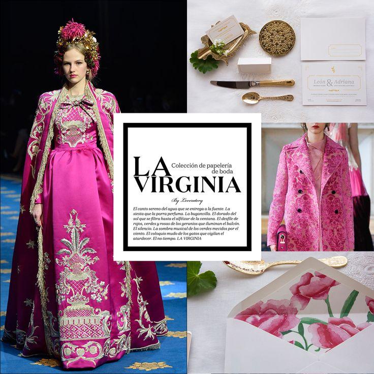 'La Virginia' Colección de #papeleríadebodas de #Loveratory #invitacionesdeboda #invitaciones2017 #pinkaholic Pink trend. Pink, spring summer 2017. Rosa, primavera verano 2017. #tendencias2017 #primaveraverano2017 #rosa