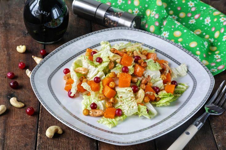 Просто и вкусно: Салат с тыквой и жареным нутом