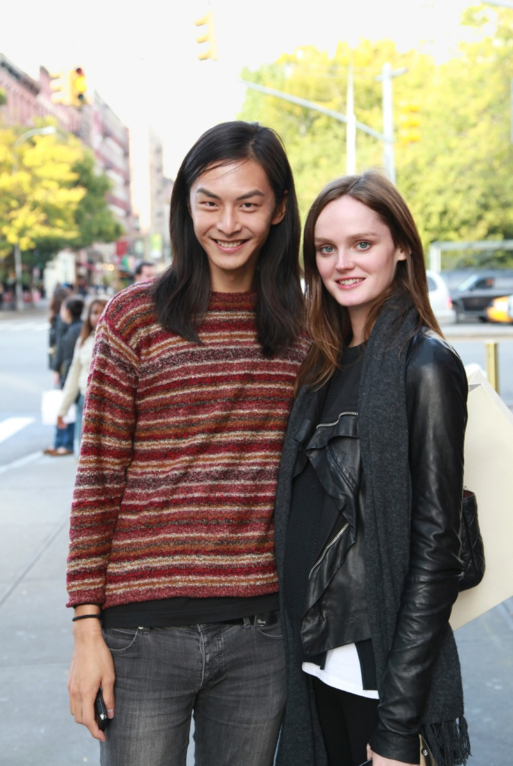 with Lisa Cant, in NYC, Soho. (taken from jewelry designer Le Bibelot site)