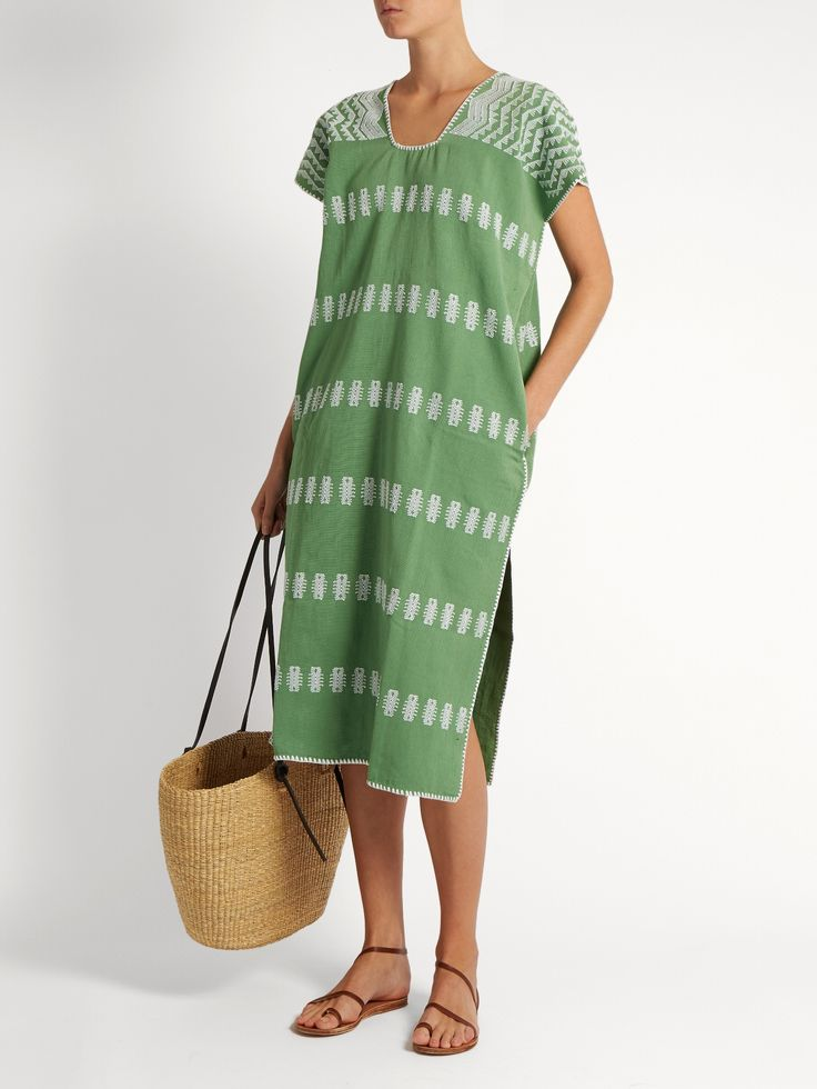 Pippa Holt No.3 embroidered cotton kaftan