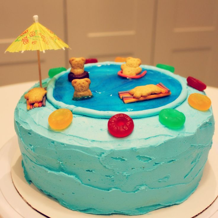 Swimming Pool Cake Ideas swimming pool cake Swimming Pool Cake