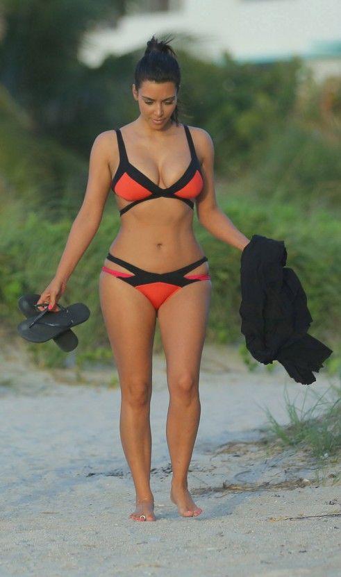 Kim Kardashian Bikini Photos Miami Beach Jonathan Cheban Agent Provocateur