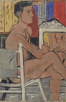 Italian nude sitting - Yiannis Tsaroychis
