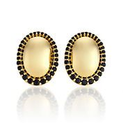 Gump's Vermeil & Spinel Dome Earrings