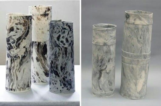 Outstanding vases by Lisa Firer Designs.