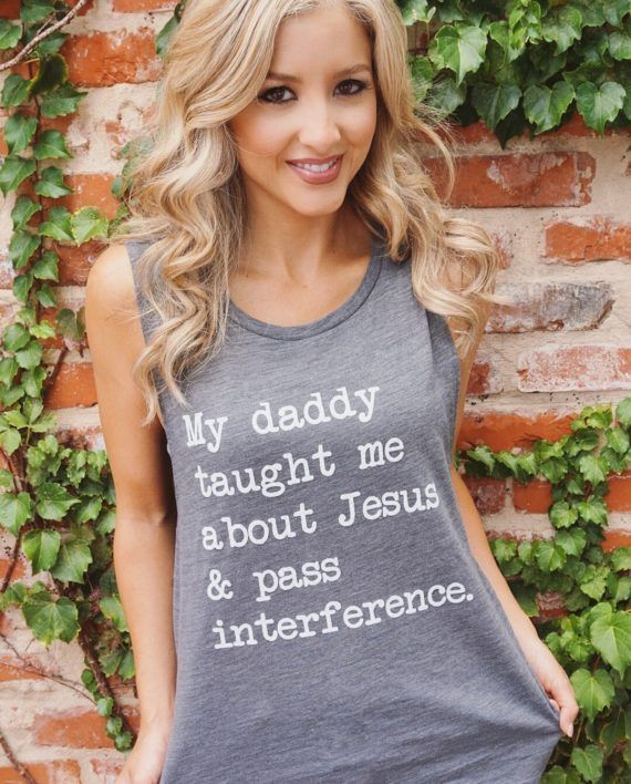 Jesus + Pass Interference Tank – Gray  What's better than a super soft and comfy gray muscle tank? Nothing!