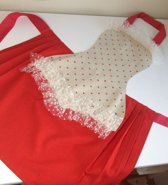 Sexy apron Red by rengarenk on Etsy