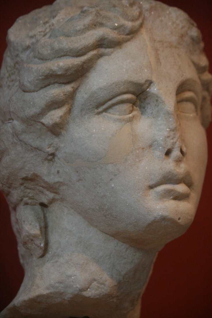 Head of Apollo, mid. 2nd. c. A.D., Thessaloniki, Archaeological Museum, Thessaloniki, Greece, 2011