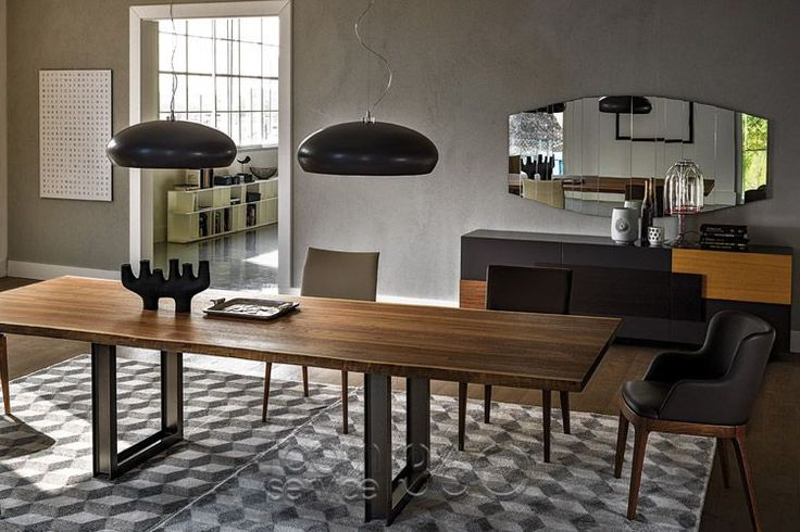 Sigma Wooden Modern Dining Table By Cattelan Italia