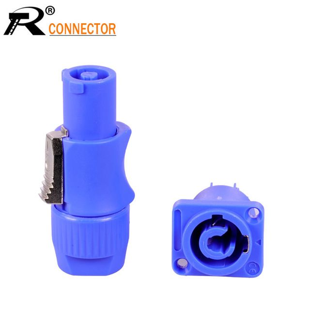 5 Sets 3 Pin Powercon Power Connector Male Female Powercon Type A Nac3fca Nac3mpa 1 Chassis Panel Mount 3 Pin Speako Lighting Accessories Connectors Plugs