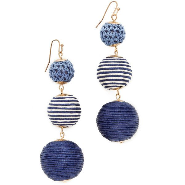 Shashi Matilda Striped Earrings (2,325 INR) ❤ liked on Polyvore featuring jewelry, earrings, bauble jewelry, macrame earrings, shashi, earring jewelry and dangle earrings