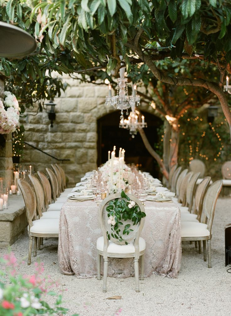 San Ysidro Ranch al fresco outdoor wedding