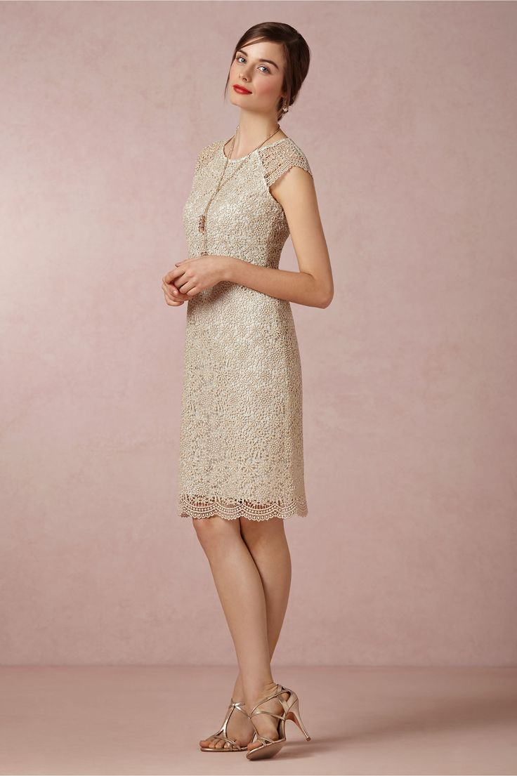 Shined Lace Shift in Bridal Party & Guests Bridesmaids Dresses at BHLDN- without mint. Like the silo.