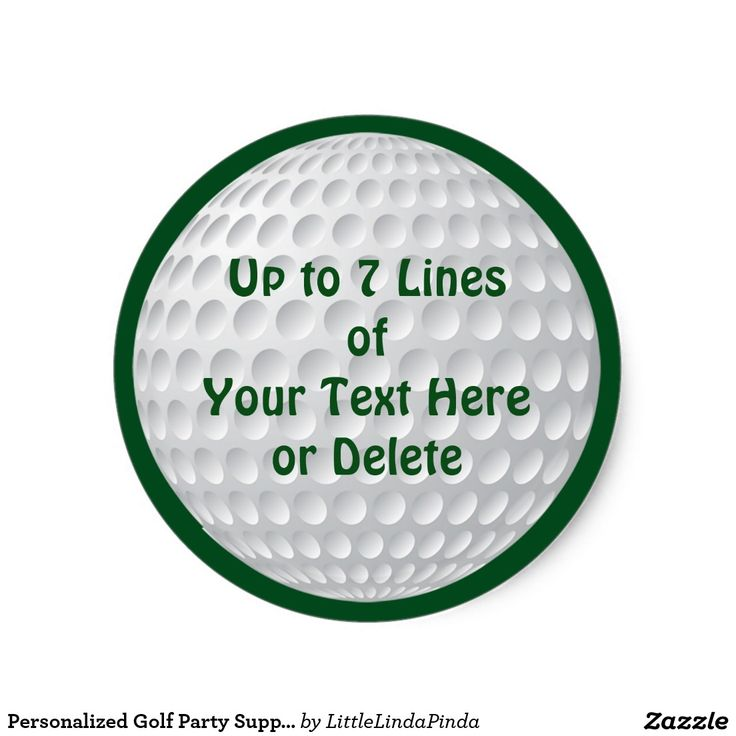 Personalized Golf Party Supplies Cheap GOLF STICKERS in many shapes and sizes. Change Green text and background to any COLOR: CLICK: http://www.zazzle.com/personalized_golf_party_supplies_golf_stickers-217477605192981272?rf=238147997806552929 Custom Round Golf Stickers, square, rectangle and more. Many more customizable golf party stuff HERE: http://www.zazzle.com/littlelindapinda/gifts?cg=196990313510243315&rf=238147997806552929 Golf Conference, Golf Birthday Party and Golf party supplies.